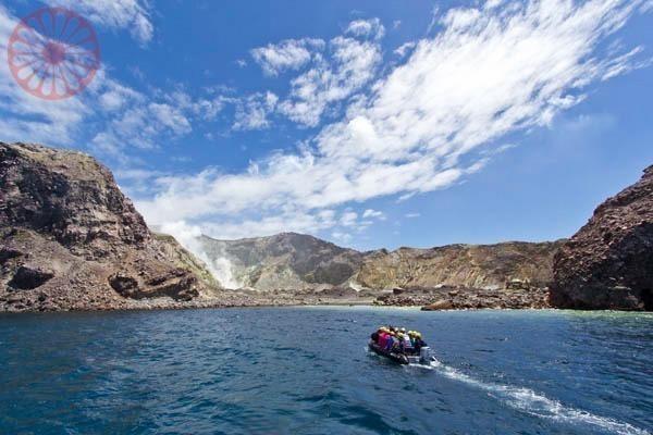 White Island vulcão na Nova Zelândia