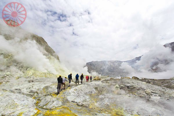 White Island, marine active volcano, New Zealand