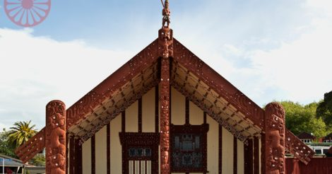 Ohinemutu, maori neighbourhood, rotorua, new zealand
