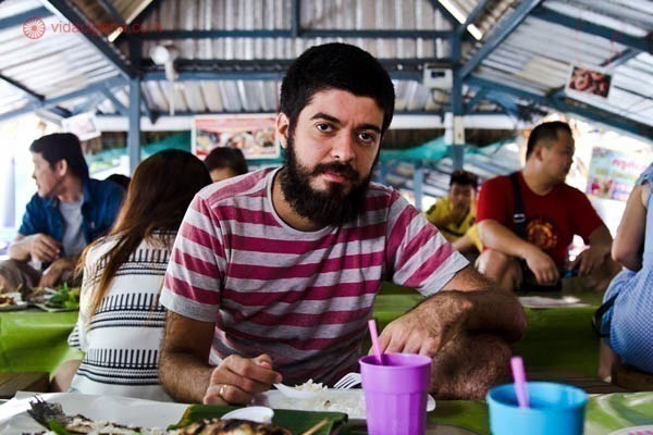 Mercado flutuante bangkok
