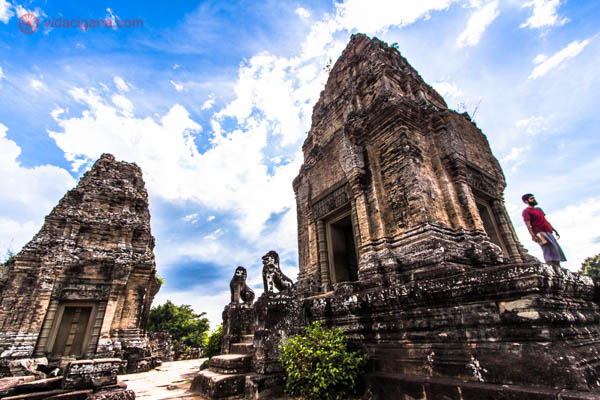 Ruínas de um dos muitos templos existentes em Angkor, no Camboja