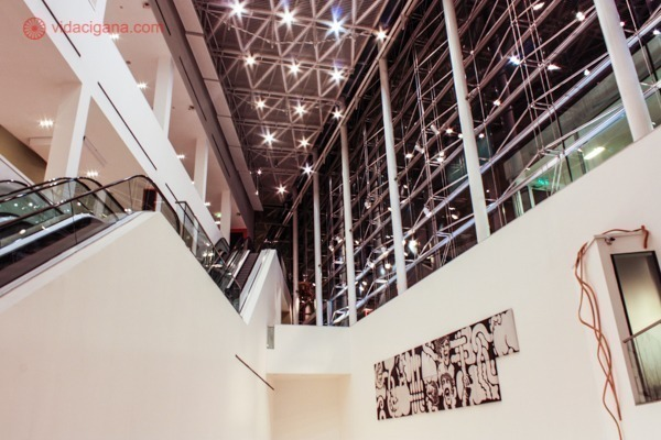 O interior do MALBA, Museo de Arte Latinoamericano de Buenos Aires