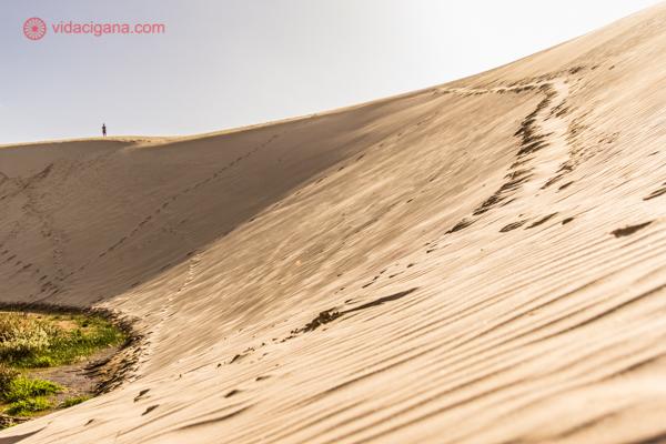 os principais pontos turísticos da nova zelândia: as dunas do giant te paki, na ninety mile beach, na região do far north