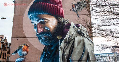 O que fazer em Glasgow: Uma parede pintada com street art em Glasgow, na Escócia
