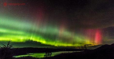 Roteiro pela Escócia: A maravilhosa Aurora Boreal vista dos céus de Inverness, nos Highlands escoceses.