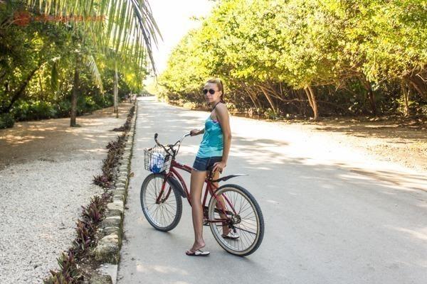 As ruínas de Tulum, no México: Indo de bicicleta até as ruínas de Tulum.