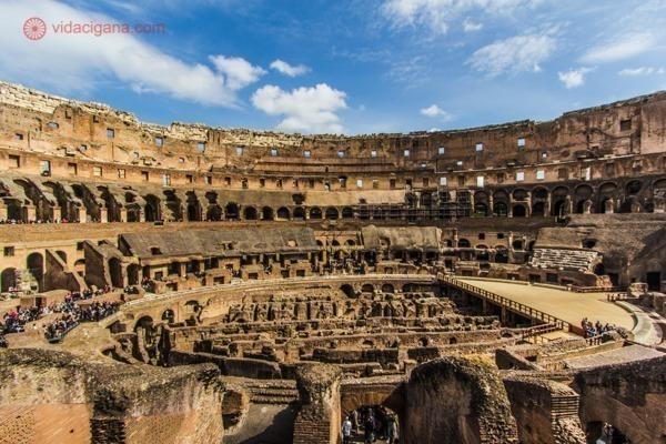 Roteiro de 4 dias em Roma: O interior do Coliseu