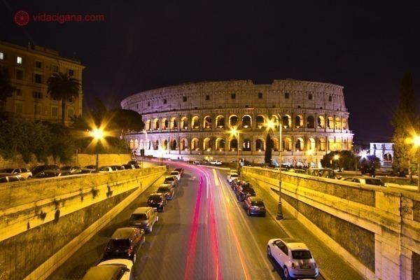 Roteiro de 4 dias em Roma: O Coliseu à noite