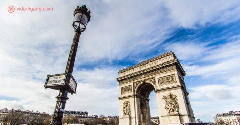 Espaço Schengen: O Arco do Triunfo em Paris