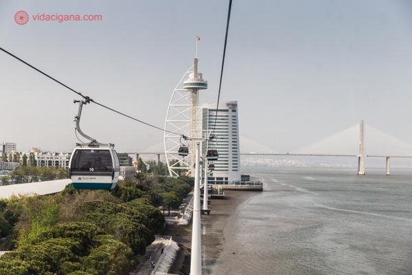 Parque das Nações, Lisboa: O teleférico nas margens do rio Tejo