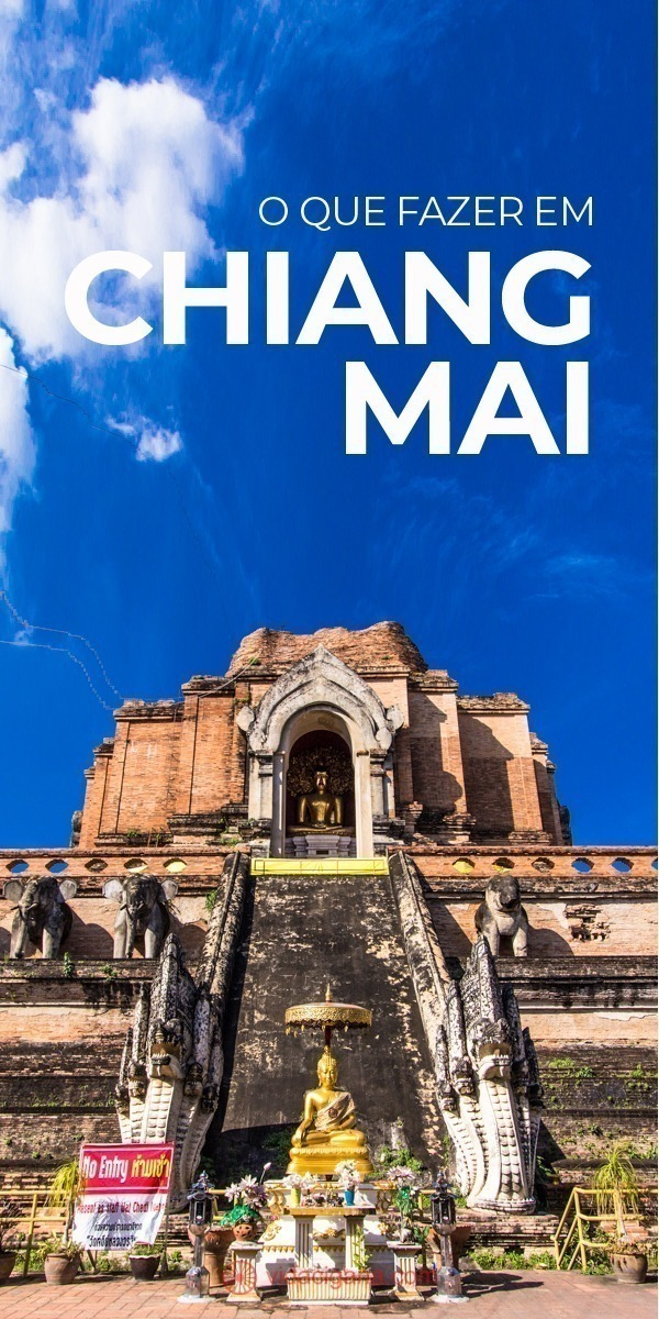 O que fazer em Chiang Mai: Muralha de Chiang Mai, Wat Chedi Luang, Wat Phra Singh, Wat Chiang Man, Chiang Mai Arts and Cultural Center, Lanna Folklife Museum, Feira noturna da Rachadamnoen Road, Night Bazaar, Wat Phra That Doi Suthep