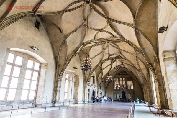 O Salão Principal do Castelo de Praga