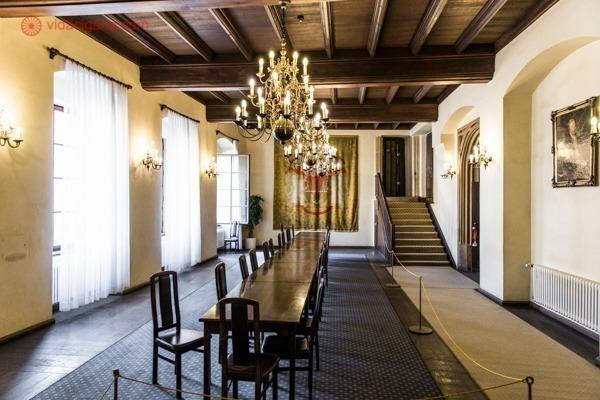 Uma das salas da Old Town House, com mobília original