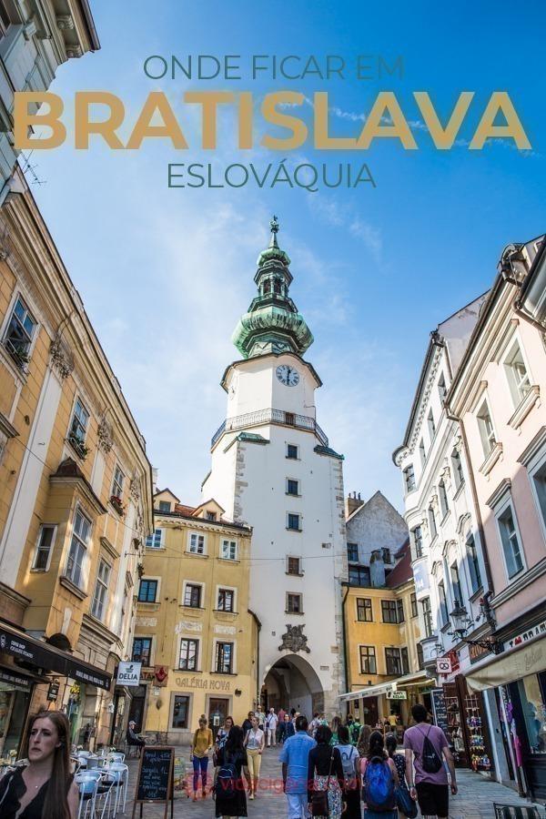 Onde é melhor ficar em Bratislava? Dentro ou Fora da Cidade Antiga? Sem dúvidas a melhor opção é ficar hospedado em um dos hotéis do trecho murado da cidade antiga de Bratislava, especialmente para quem vai ficar só uma noite na cidade.