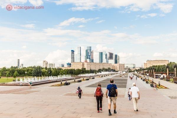 Onde ficar em Moscou: Os prédios altos de Moscou vistos do Museu da Grande Guerra Patriótica