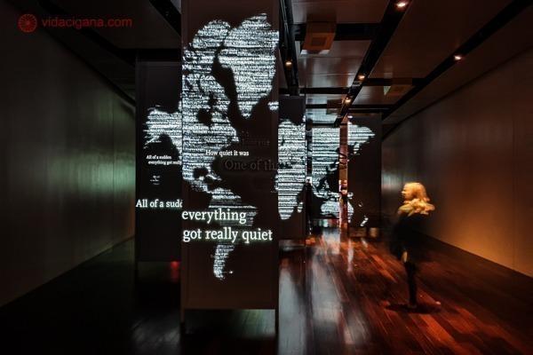 Memorial 11 de setembro, em Nova York: os painéis com depoimentos