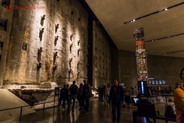 Memorial 11 de setembro, em Nova York: o salão principal