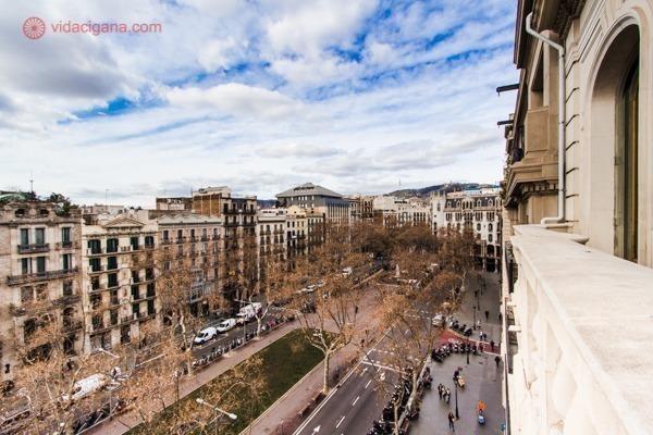 O bairro de Gracia visto do alto de um hotel