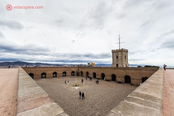 O castelo de Montjuic