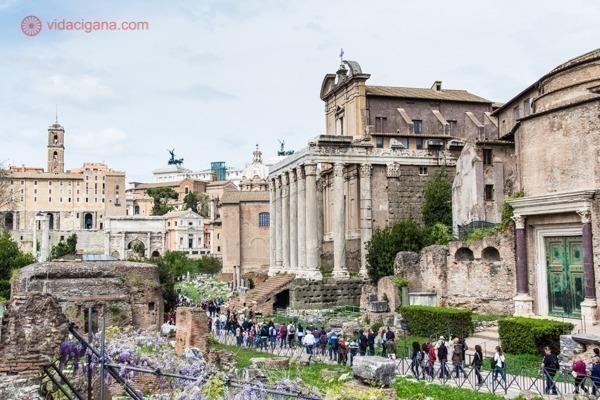 O Fórum Romano em todo o seu esplendor