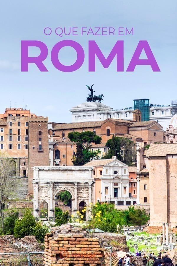 Saber o que fazer em Roma pode ser uma das tarefas mais complexas para um turista visitando a capital italiana pela primeira vez. Ou segunda, ou terceira. Com cerca de 2,8 milhões de habitantes, Roma é um destino que encanta turistas de várias partes do mundo, pois abriga um verdadeiro patrimônio histórico, cultural e religioso.