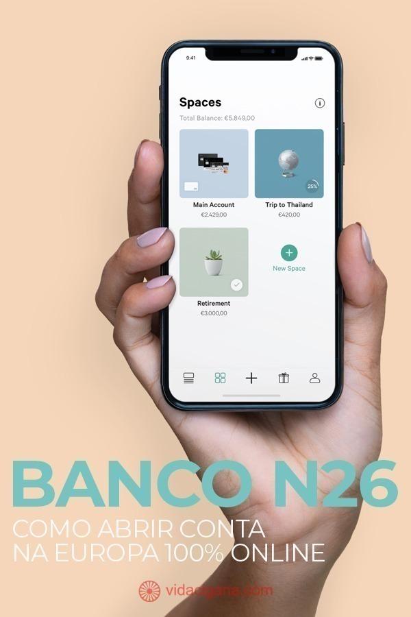 Com o Banco N26 é possível abrir uma conta bancária na Europa, com saldo em Euros, gerenciada inteiramente online. E o melhor, sem pagar nada por isso
