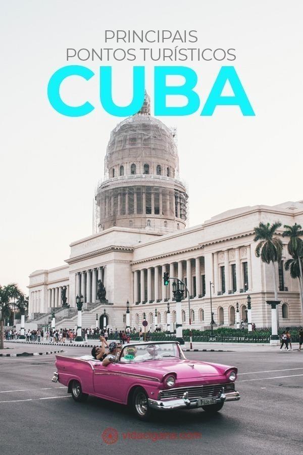 Os principais pontos turísticos de Cuba: Habana Vieja, Museu da Revolução, Capitólio, Malecón, Os hotéis antigos de Havana, Praça da Revolução, As casas particulares de Cuba, Fábricas de charutos, Vale de Viñales, Varadero, Os Cayos, Trinidad, Playa Ancón, A Santa Clara de Che Guevara, Quartel Moncada