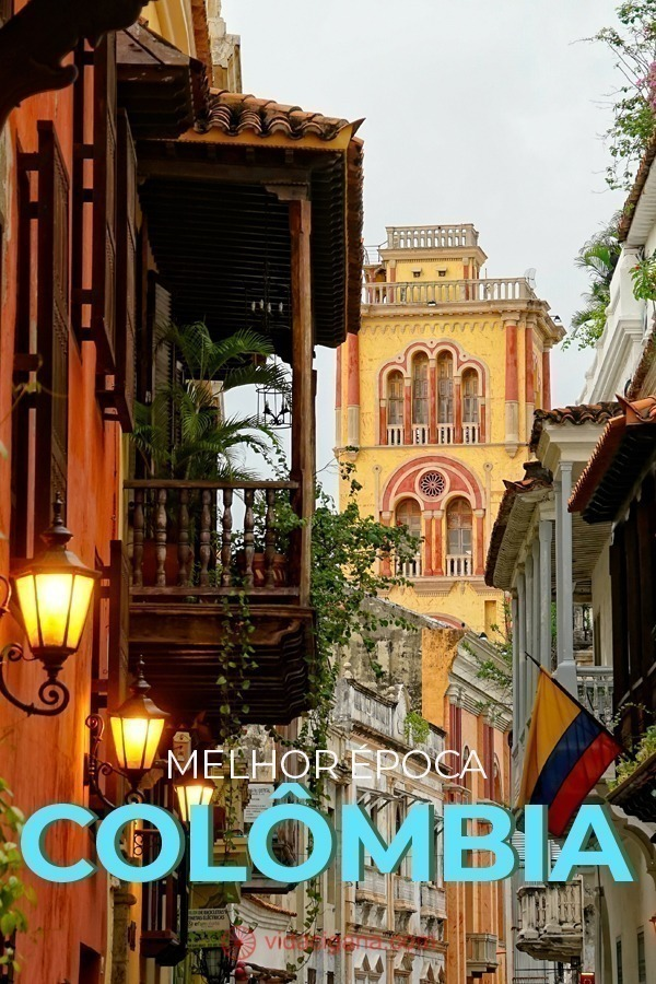 melhor época colômbia. como é o clima na Colômbia, as temperaturas, os períodos de chuva, a alta e a baixa temporada e qual a melhor época para viajar para suas principais regiões turísticas: Bogotá Cartagena Medellín San Andrés