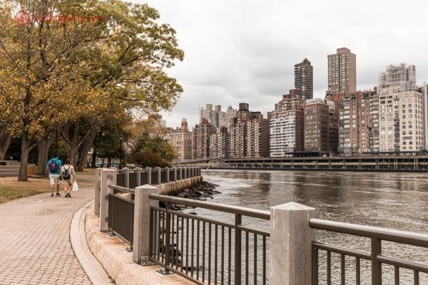 A vista de Manhattan da Roosevelt Island