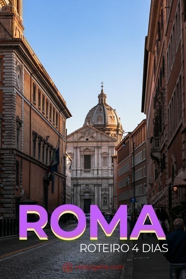 Na hora de planejar um roteiro de 4 dias em Roma algumas atrações são obrigatórias para qualquer turista que chegue à cidade. Caso queira alguma inspiração para montar seu roteiro em Roma, vamos listar abaixo os lugares que visitamos e que não devem ser deixados de fora de sua viagem.