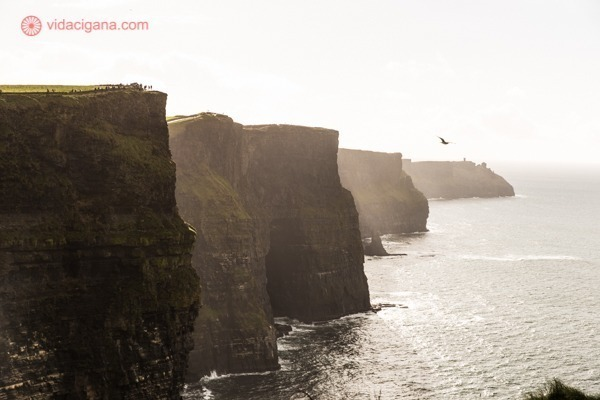 Cliffs of Moher em contraluz