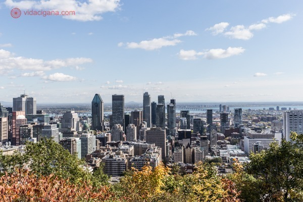 A vista do alto do Mont-Royal