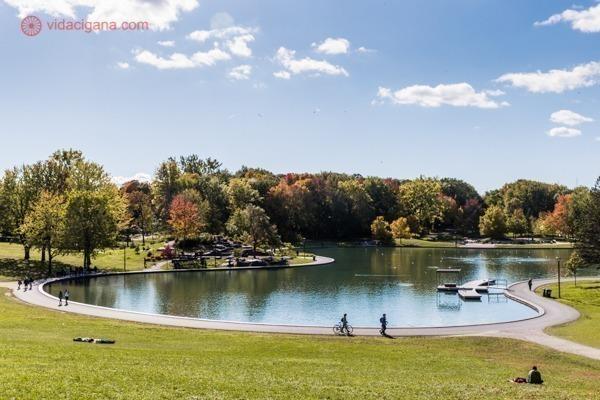 O que fazer em Montreal: o Lago dos Castores em um dia de sol, lindo demais