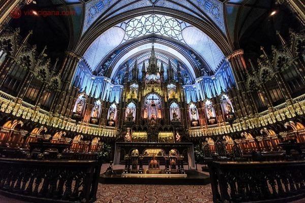 O que fazer em Montreal: O interior da Basílica de Notre Dame de Montreal
