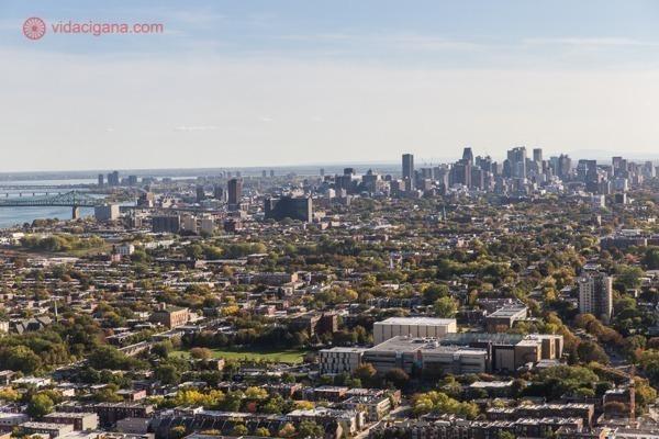 O que fazer em Montreal: A vista do alto da Torre Inclinada