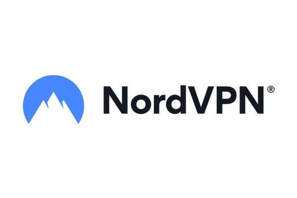 a logo da nordvpn, uma montanha num fundo azul, internet segura ao viajar, vpn