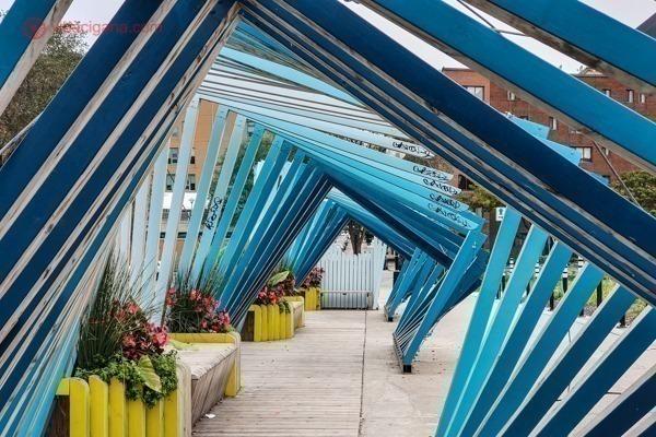 Um tunel decorativo em Montreal