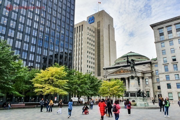 Onde ficar em Montreal: a praça principal da cidade