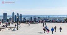 Onde ficar em Montreal: a vista de toda a cidade do topo do Mont Royal