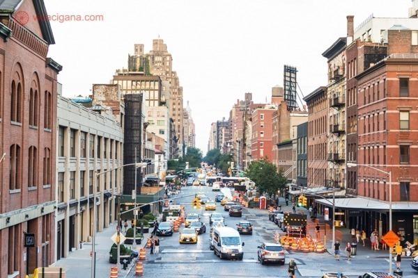 Os prédios de tijolos vermelhos de Tribeca