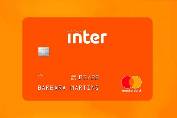 O cartão do Banco Inter laranja