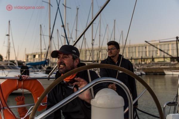 Gil e Felipe, nossos guias no barco