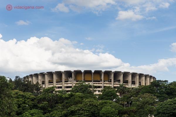 O Estádio do Mineirão visto da Lagoa