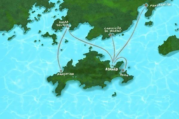 Onde ficar em Ilha Grande: Mapa ilustrado da região
