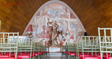 Onde ficar em Belo Horizonte: o interior da Igreja da Pampulha
