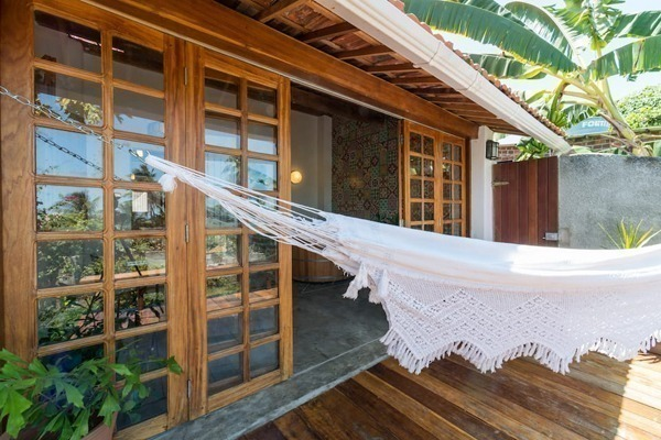 Airbnb no Recife, na verdade, em Olinda, com rede na varanda