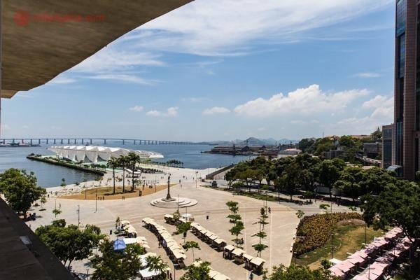 O que fazer no Rio: a vista do mirante do MAR