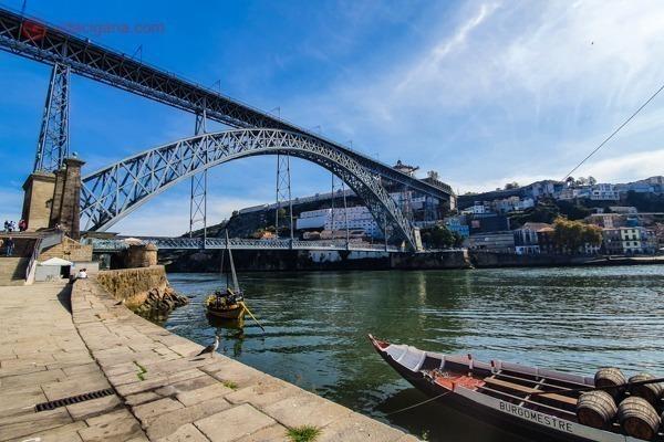 O que fazer no Porto: A Ponde D. Luis I vista do Porto