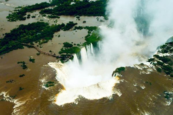 Cataratas do Iguaçu vistas do alto