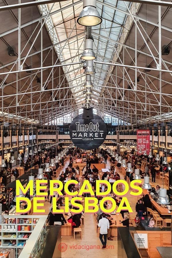 Mercados de Lisboa: Mercado da Ribeira (Time Out Market), Feira da Ladra, Mercado de Arroios, Mercado de Campo de Ourique, Mercado Biológico do Príncipe Real, Mercado de Benfica, Mercado de Alvalade Norte, Mercado Oriental do Martim Moniz, LX Market